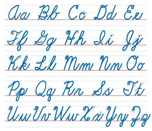 Letras Cursivas Del Abecedario Alfabeto Letra Cursiva Manuscrita